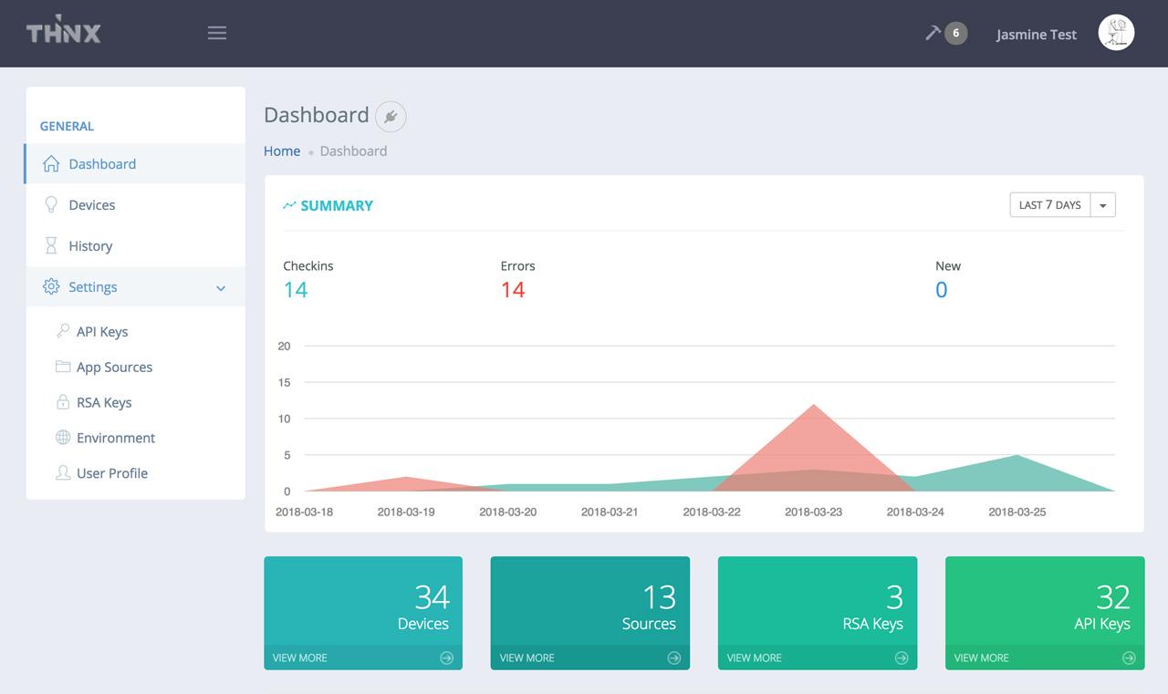 THiNX Cloud: Free IoT Management